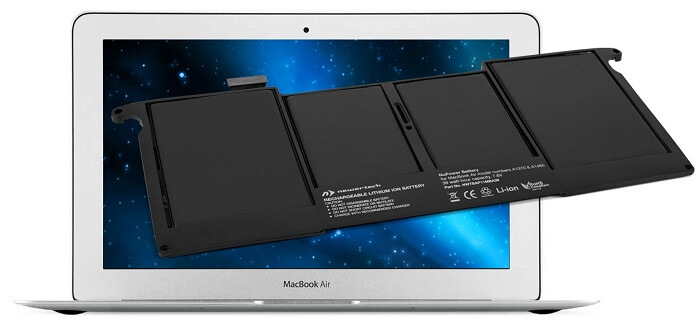 battery of the new MacBook Air