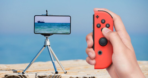 Here's how to use a Nintendo Switch Joy-Con as a remote camera shutter on an Android phone