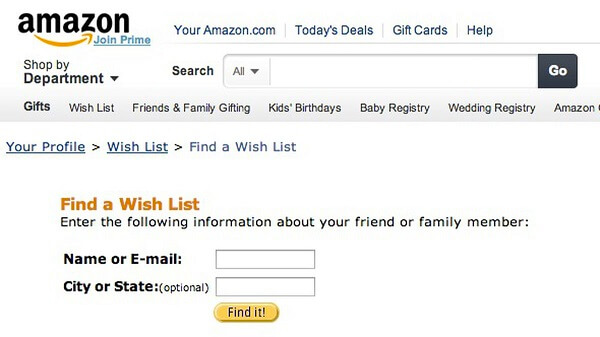Someone Wish List on Amazon