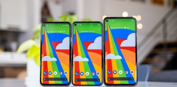 Pixel phones with 90Hz display aesthetics