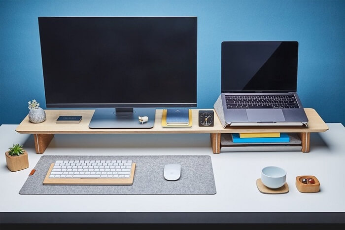 Grovemade Wooden Dual Monitor Stand