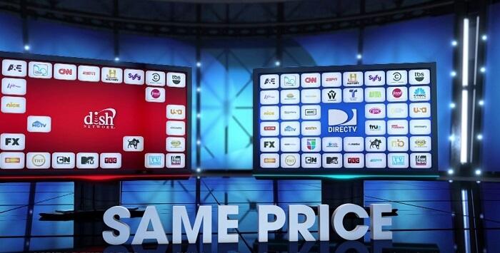 dish vs directv Premium Stations