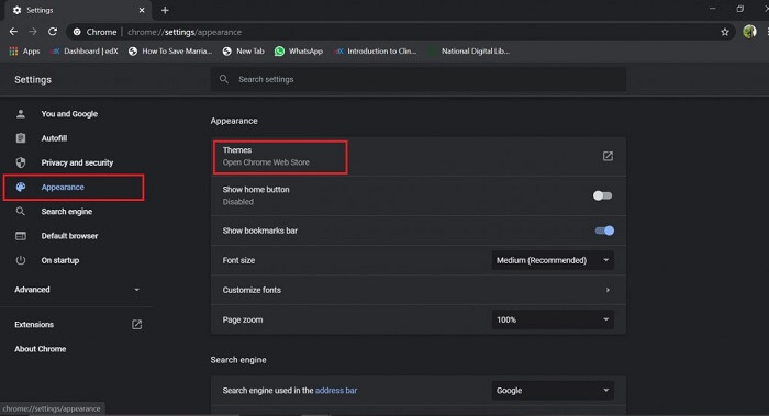 Google Docs Dark Mode Win 10