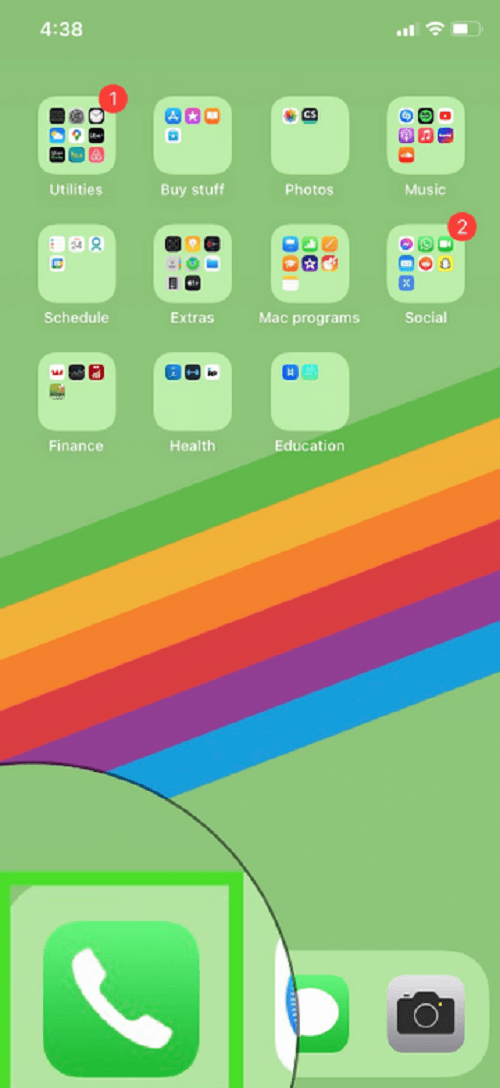 Open your phone's application panel