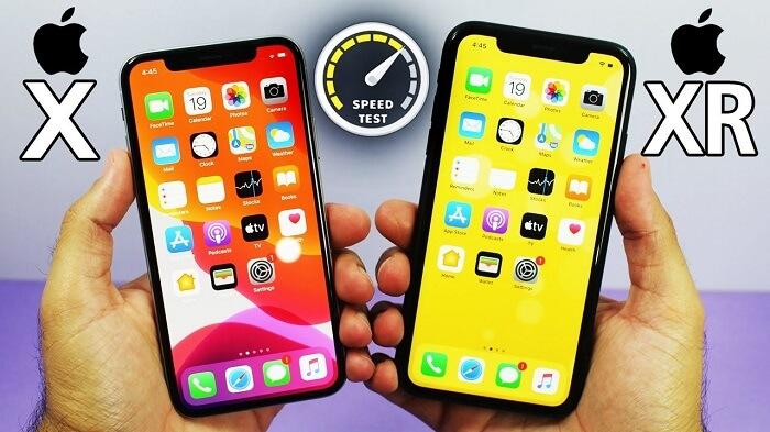 iPhone X Vs XR screen